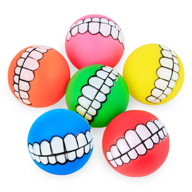 Funny Dog Ball with Teeth