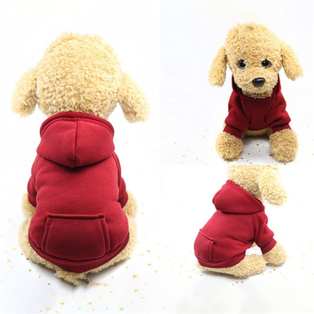 Casual Solid Color Dog Hoodie