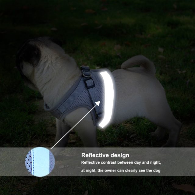 Pet's Adjustable Reflective Harness