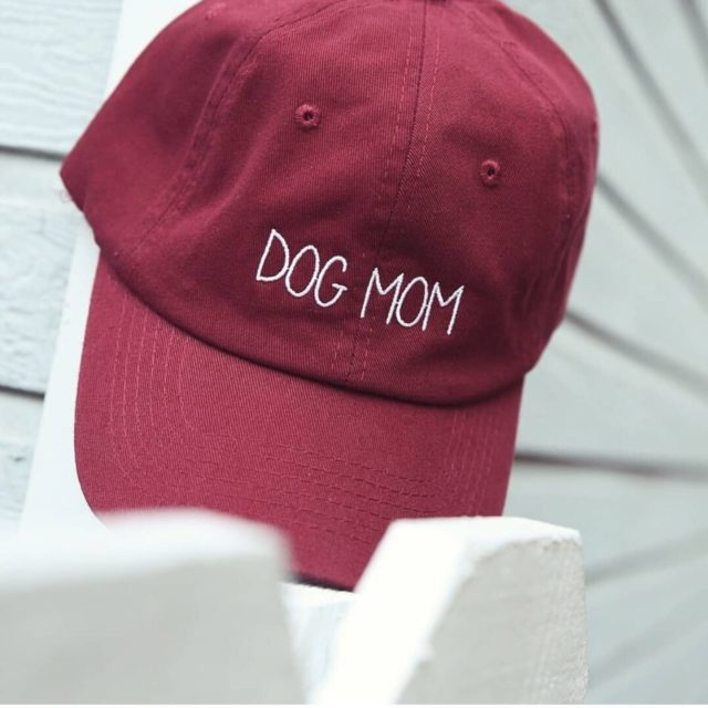 Women's Dog Mom Embroidered Baseball Cap